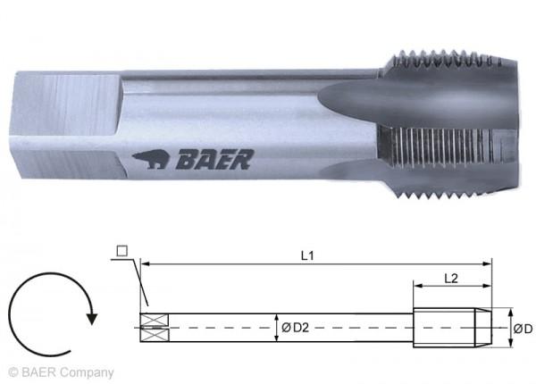 BAER HSSG Einschnittgewindebohrer Form D - G (BSP) 1/8 x 28