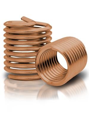 BaerCoil Gewindeeinsätze M 8 x 1,25 - 2,0 D - Bronze - 100 Stück