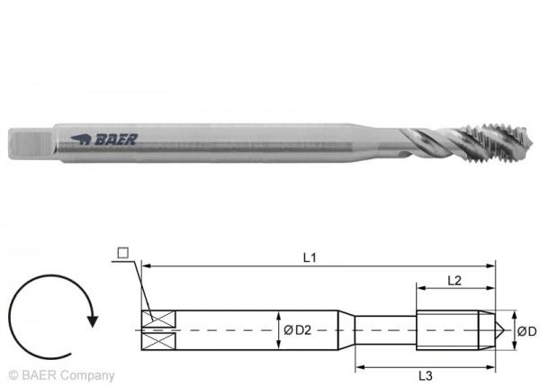 BAER HSSE Maschinengewindebohrer 35° RSP - 100 mm - M 3 x 0,5