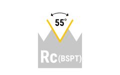 Rc (BSPT) - keg. Rohrgewinde