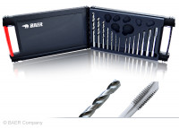 BAER Set HSSG: Maschinengewindebohrer Durchgangsloch | Kernlochbohrer: M 3 - 12