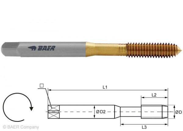 BAER HSSE-TIN Former M 4 x 0,7 - DIN 371 ohne Schmiernut