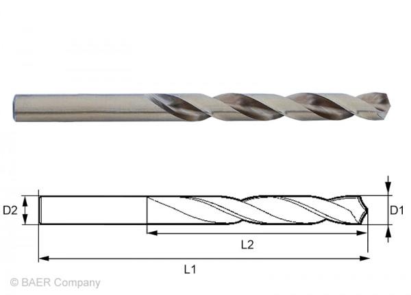 HSSE Extrem-Spiralbohrer 3,30 mm - 1 Stück
