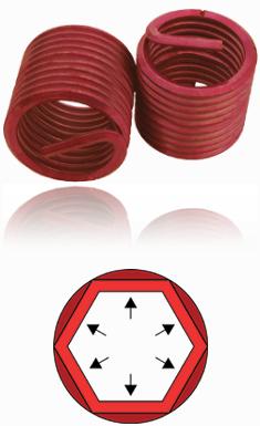 BaerCoil Gewindeeinsätze UNF 1/4 x 28 - 3,0 D - SG - 100 Stück