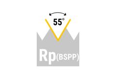 Rp (BSPP) - zyl. Rohrgewinde