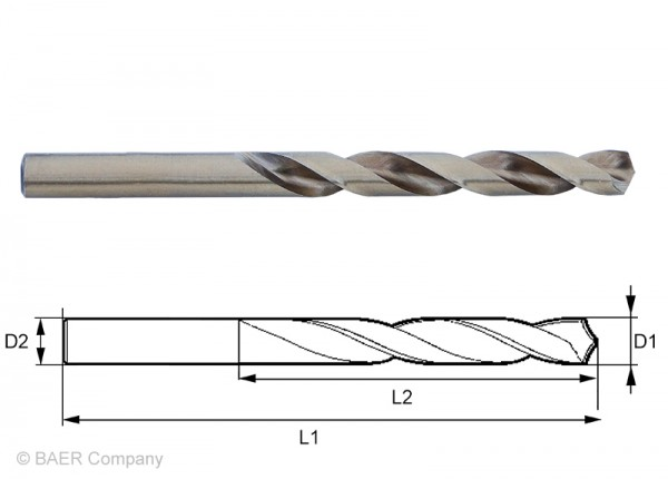 HSSE Extrem-Spiralbohrer 3,60 mm - 1 Stück
