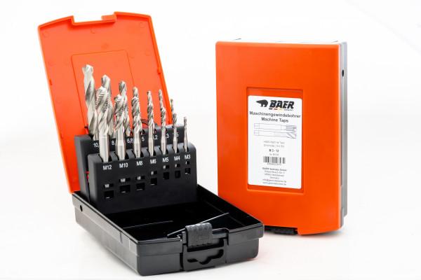 BAER Set HSSG: Maschinengewindebohrer Sackloch | Kernlochbohrer: M 3 - 12