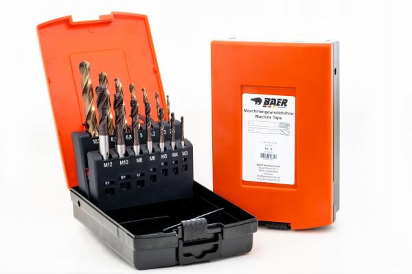 BAER UniTap Set HSSE: Gewindebohrer Sackloch | Kernlochbohrer: M 3 - 12