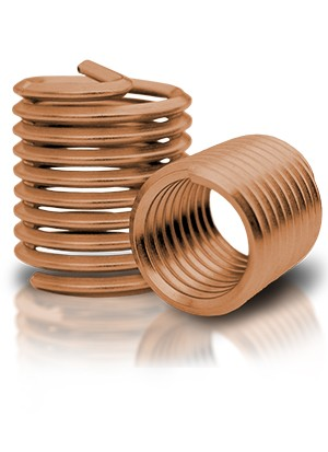 BaerCoil Gewindeeinsätze M 3 x 0,5 - 1,0 D - Bronze - 100 Stück