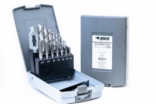 BAER Set HSSG: Einschnittgewindebohrer   Kernlochbohrer   Windeisen: M 3 - 12