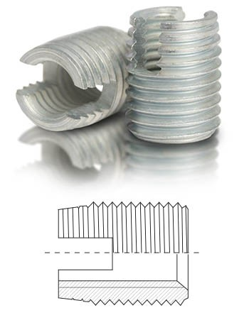 BaerFix Gewindeeinsätze UNC 5/16 x 18 - 15 mm - 10 Stück