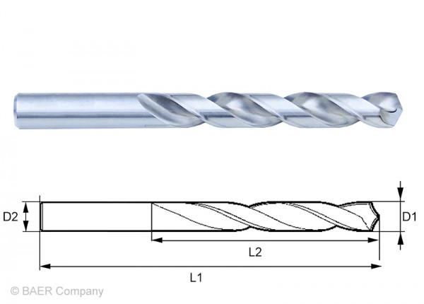 HSSG Mini-Spiralbohrer 0,50 mm - 10 Stück