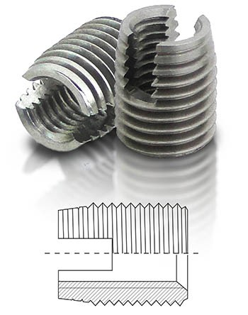 BaerFix mit Schneidschlitzen M 4 x 0,7 - 8 mm - 1.4305 - 100 Stück