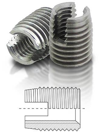 BaerFix mit Schneidschlitzen M 8 x 1,25 - 15 mm - 1.4305 - 10 Stück