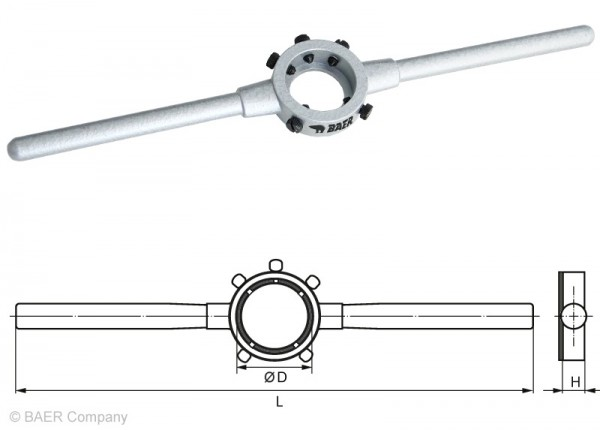 BAER Druckguss-Schneideisenhalter 25 x 9mm | M 7-9 | BSW 5/16