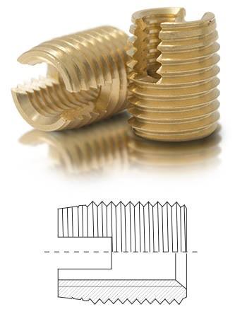 BaerFix mit Schneidschlitzen M 6 x 1,0 - 14 mm - Messing - 100 Stück